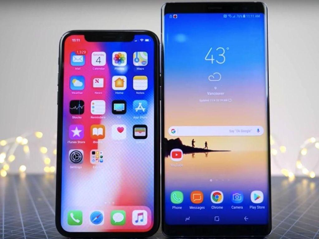 Uji Ketahanan Layar iPhone X vs Galaxy Note 8, Awet Mana?