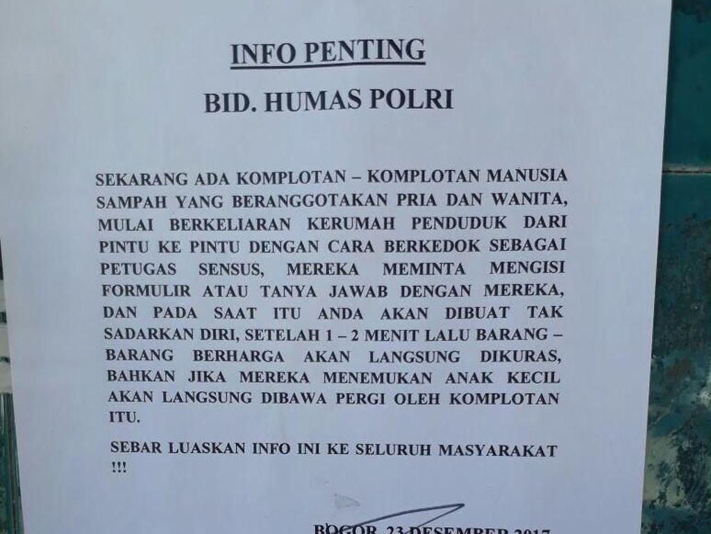 Catut Polri, Ketua RW di Bogor Bikin Pengumuman Bahaya Manusia Sampah