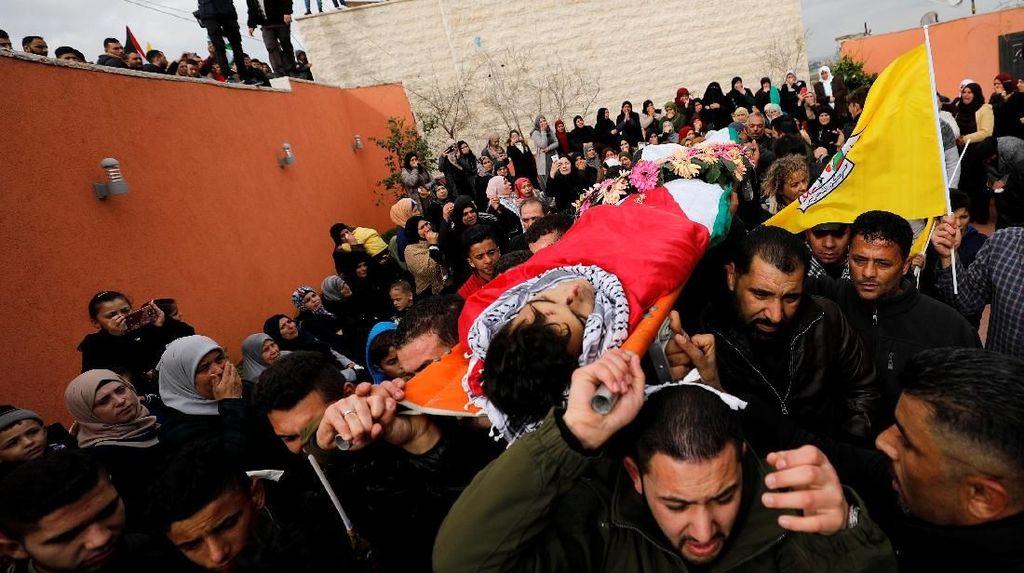 Foto: Haru Pemakaman Remaja Palestina yang Ditembak Tentara Israel