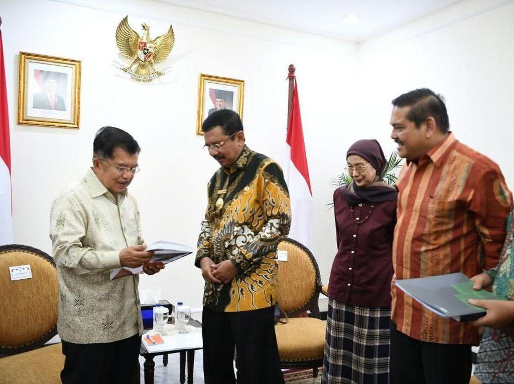 Bahas Pilkada Serentak di Sumut, Gubernur Erry Temui Wapres JK