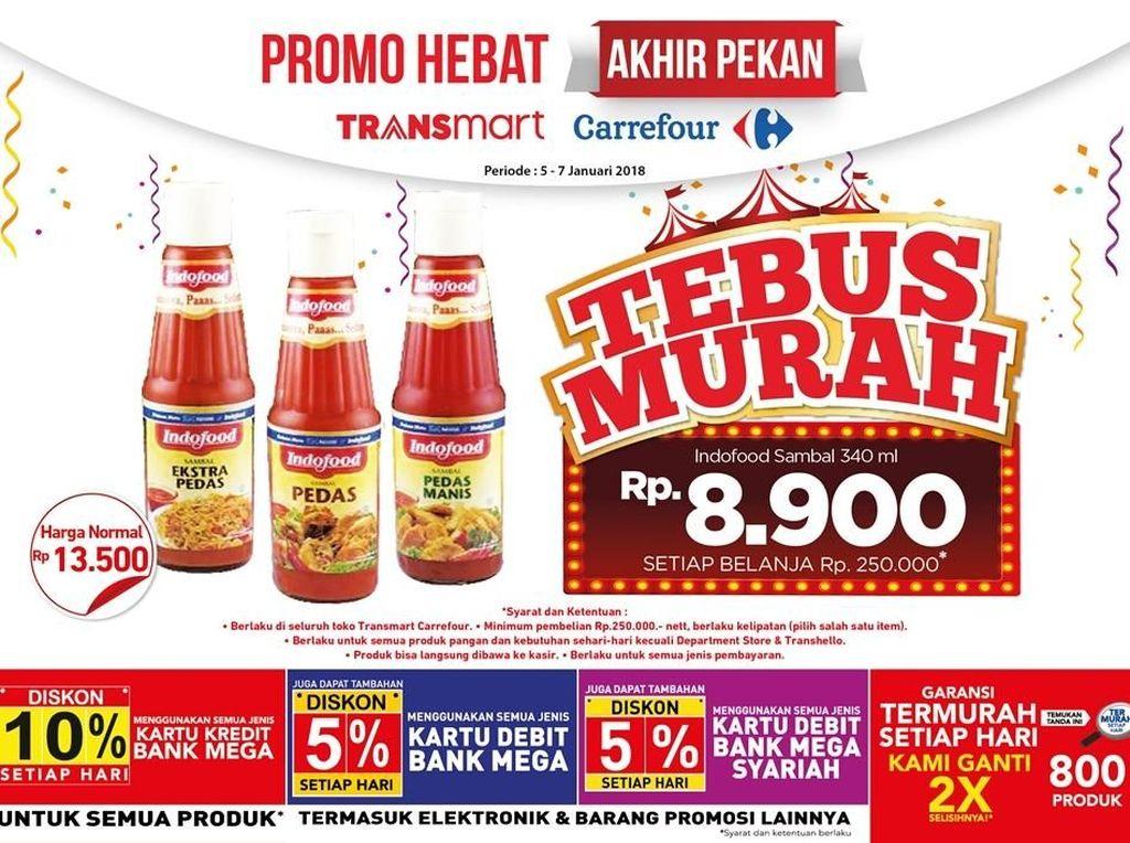 Transmart Carrefour Tawarkan Tebus Murah Sambal di Akhir Pekan