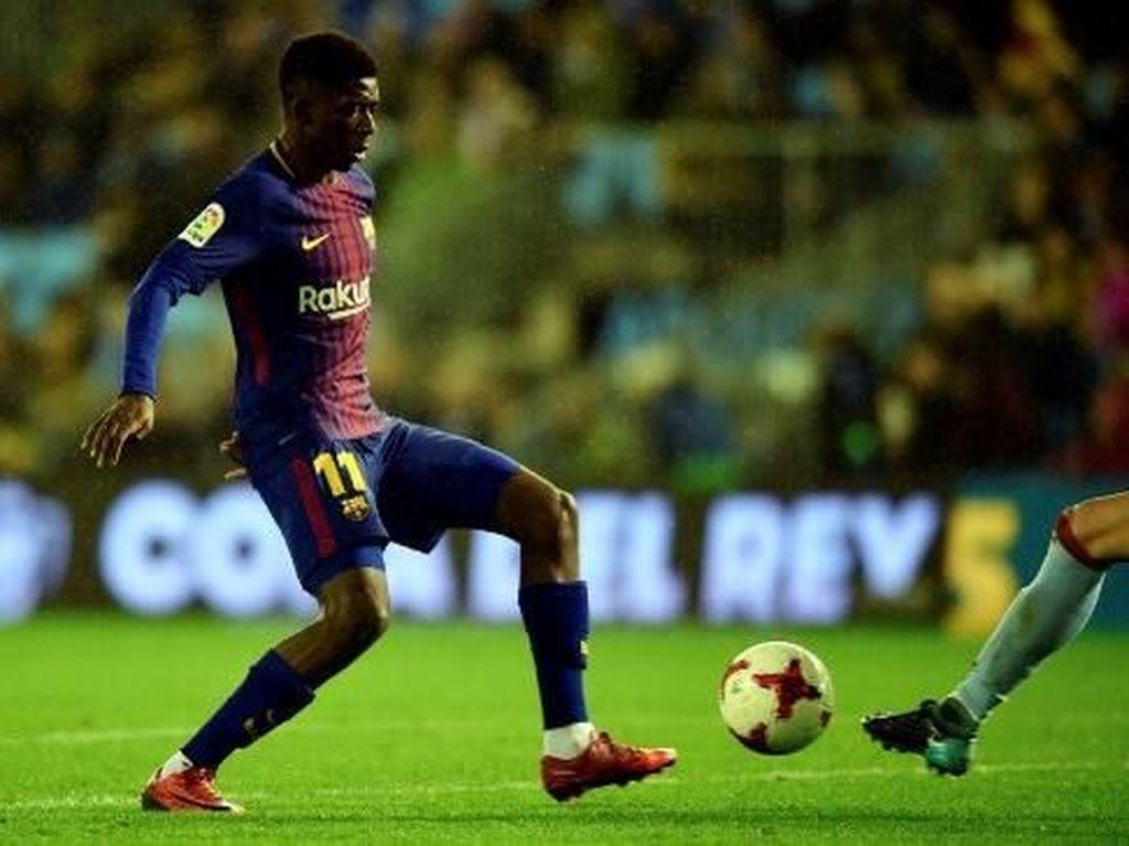 Foto: Usai 110 Hari, Pemain Nomor 11 Barcelona Beraksi Lagi