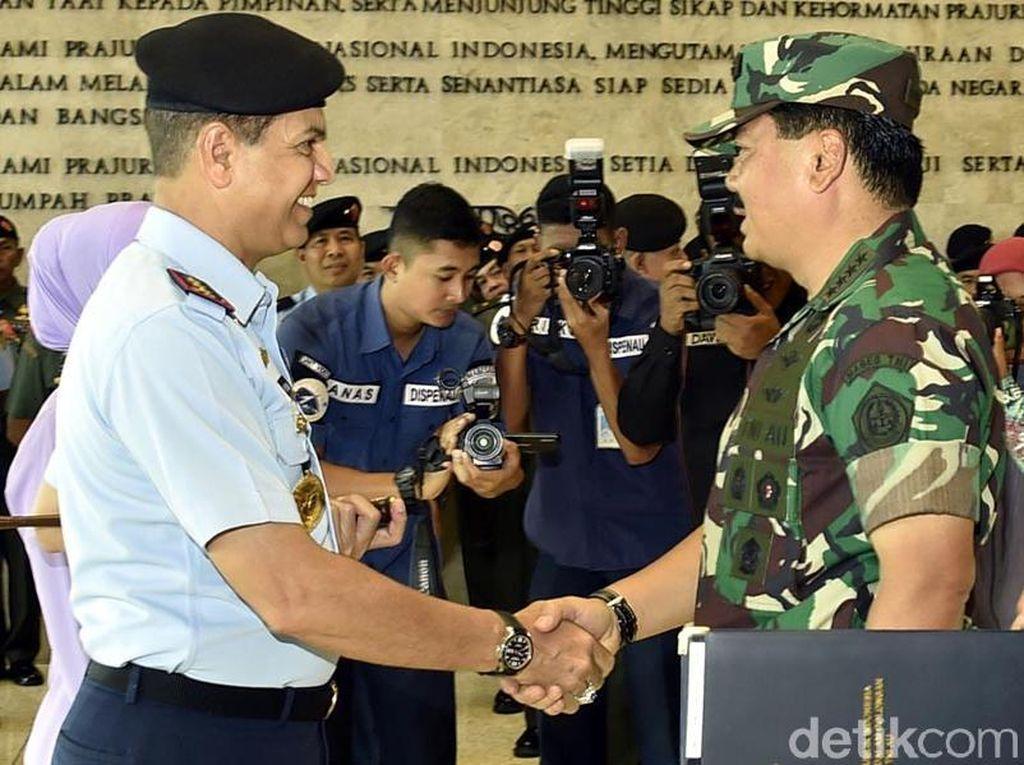 Panglima TNI Pimpin Upacara Kenaikan Pangkat Kabasarnas