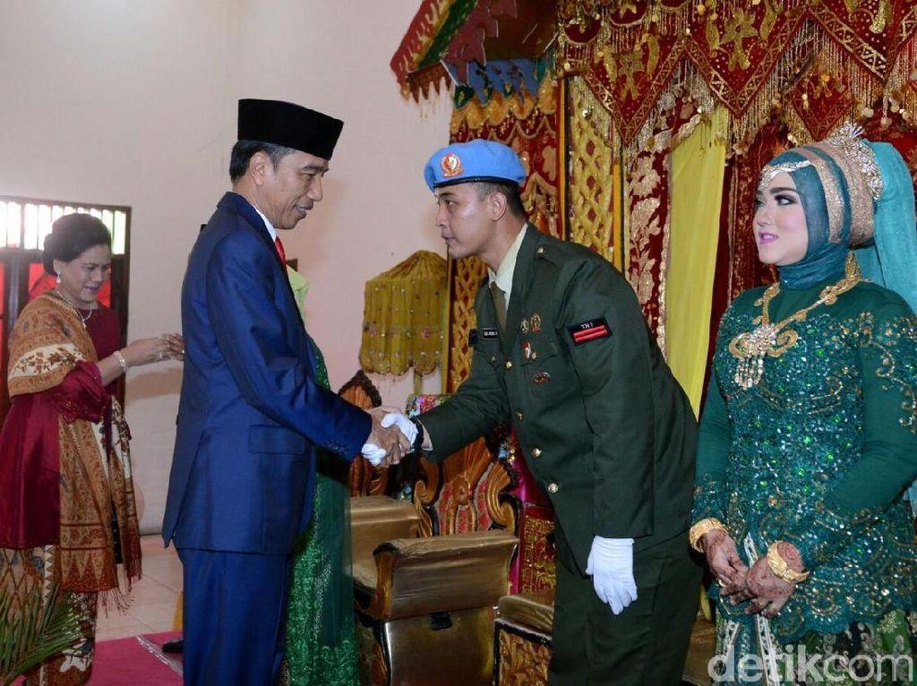 Kaget, Pratu Wisnu Tak Sangka Pernikahannya Dihadiri Jokowi-Iriana