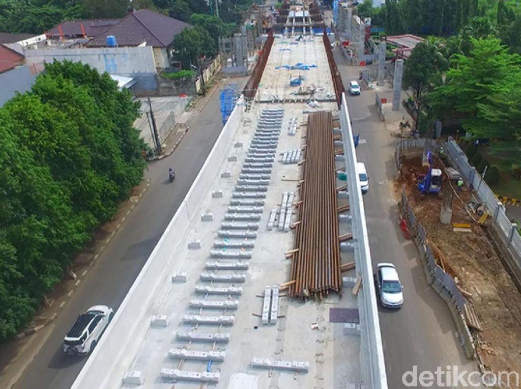 Awal Tahun, Progres LRT Jakarta Mendekati 60%