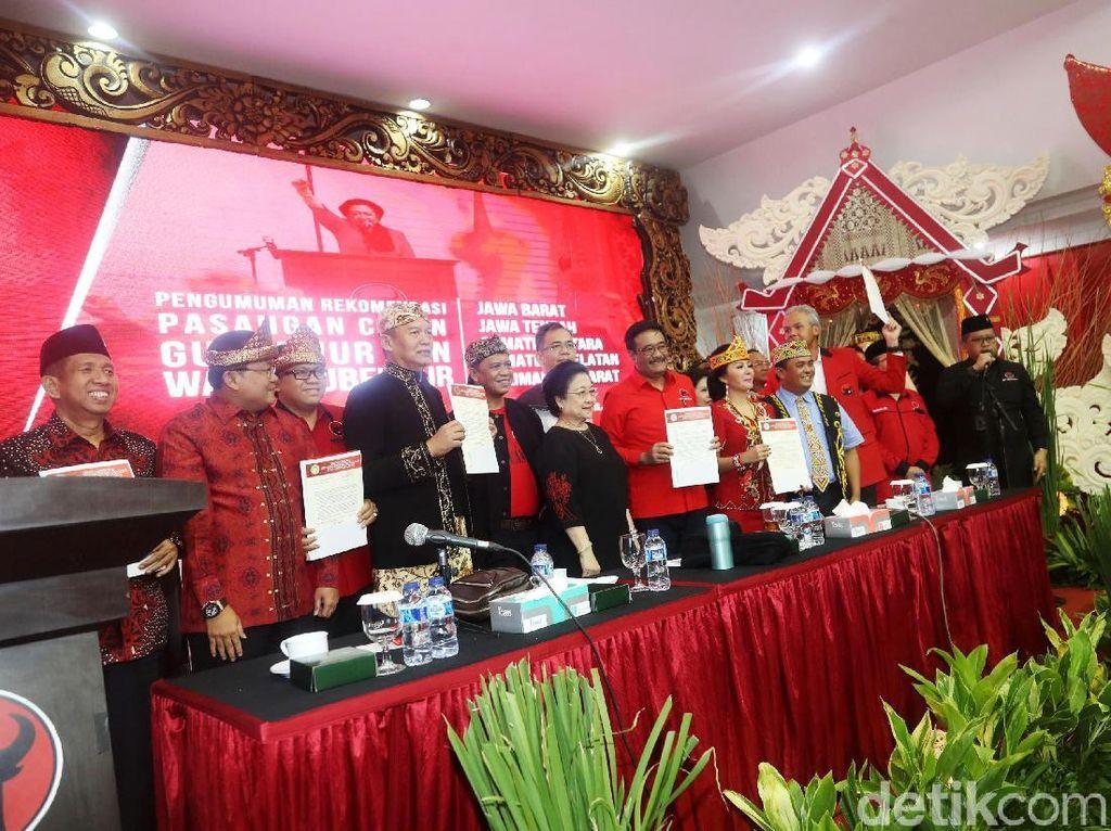 PDIP Umumkan Bakal Calon Pemimpin Daerah