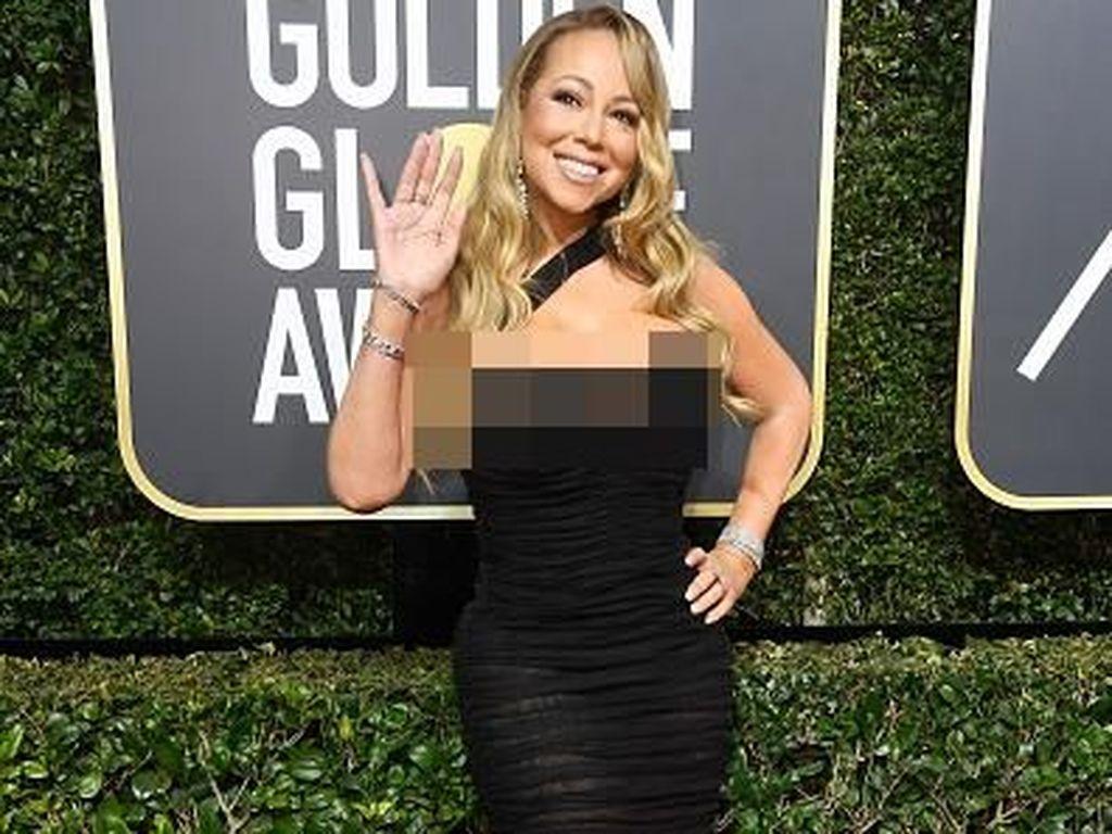 Kocak! Mariah Carey Curi Kursi Meryl Streep di Golden Globe 2018