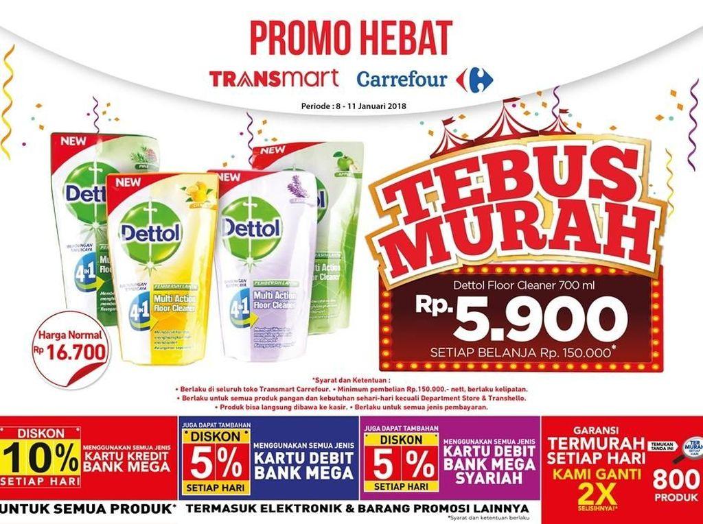 Bersih-bersih dengan Promo Tebus Murah di Awal Pekan Transmart