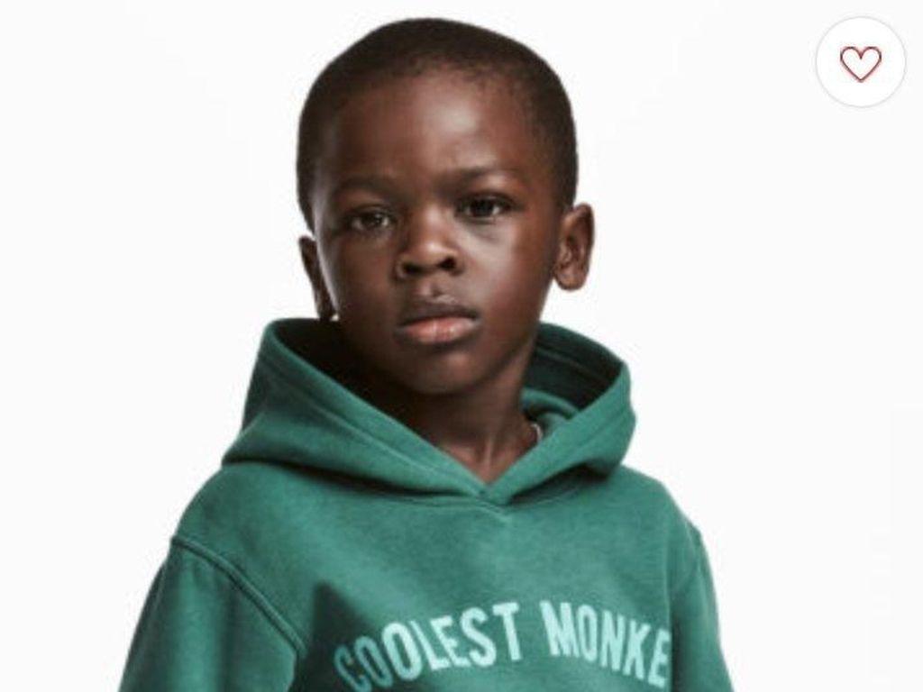Anak Kulit Hitam Jadi Model Baju Bertuliskan Monyet, H&M Dituding Rasis
