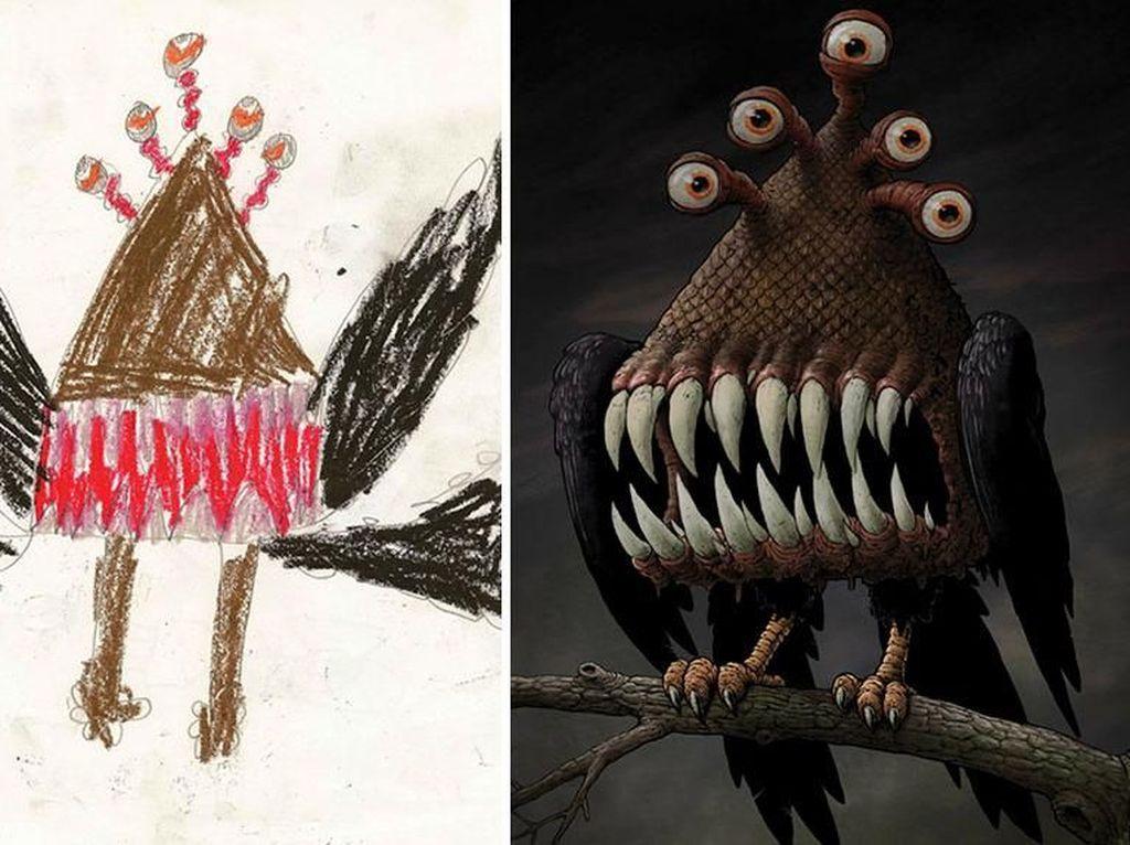 Keren! Lukisan Khayalan Anak SD yang Menjadi Nyata