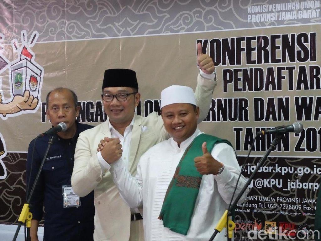Acungkan Jempol, Ridwan Kamil-Uu Resmi Daftar ke KPU
