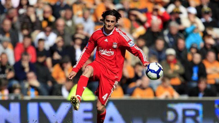 Alberti Aquilani didatangkan Liverpool dari AS Roma pada awal musim 2008/2009. Dia ditebus 18 juta pound sterling, menjadi salah satu pembelian gagal Liverpool. (Foto: Jed Leicester/Getty Images)