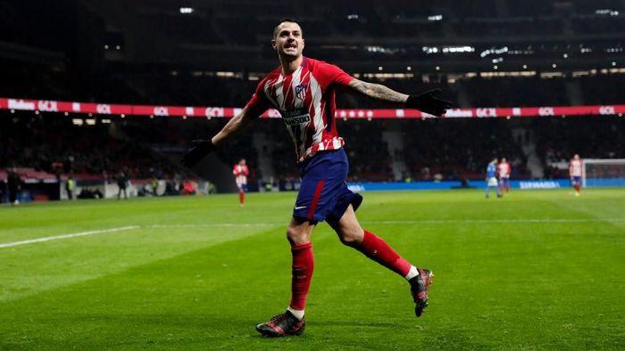 Vitolo saat merayakan golnya untuk Atletico (Foto: Gonzalo Arroyo Moreno/Getty Images)