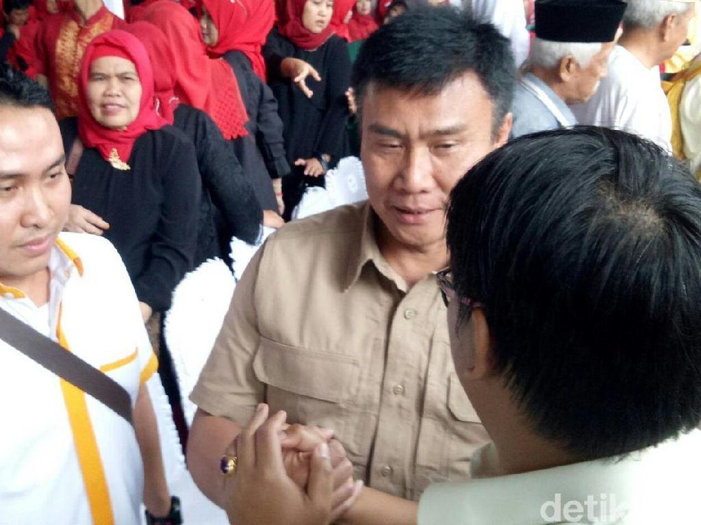 Ketua Hanura Sumsel Hadiri Deklarasi Pasangan Dodi Alex-Giri Kiemas