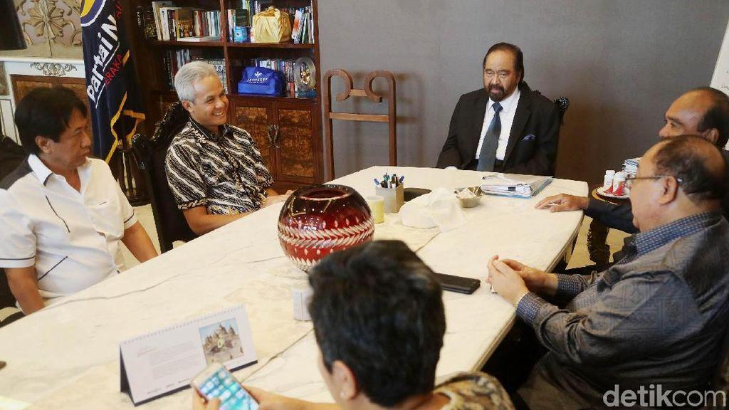 Foto: Suasana Pertemuan Surya Paloh dan Ganjar Pranowo