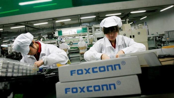 Suasana pabrik Foxconn