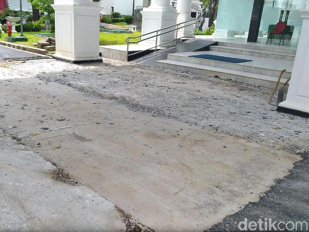 Ganti Tahun, Pengerjaan Drainase Kompleks Istana Capai 95%
