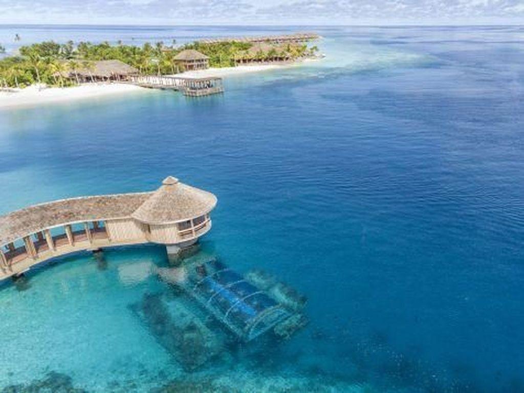 Foto: Keren! Ini Restoran Bawah Laut di Maldives