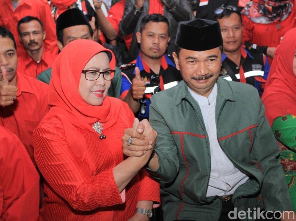 Diusung PDIP-PKB-PPP, Elin dan Maman Maju Pilbup Bandung Barat