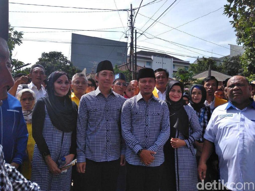 Sambangi KPUD, Bima-Dedie Daftar Pilwalkot Bogor