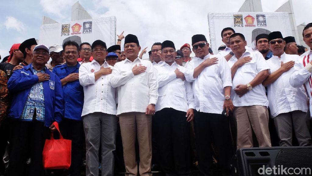 Sudrajat-Syaikhu Deklarasi di Monumen Perjuangan Rakyat