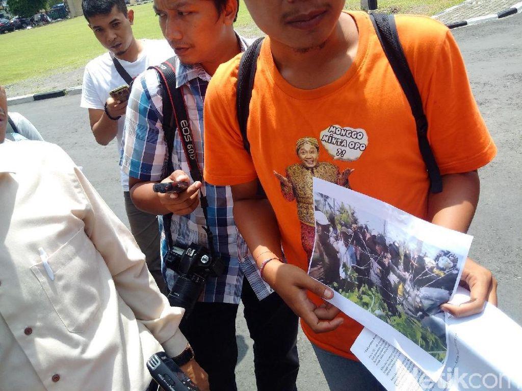 Lapor Polda DIY, Warga-Aktivis Bawa Foto Bukti Dugaan Provokasi