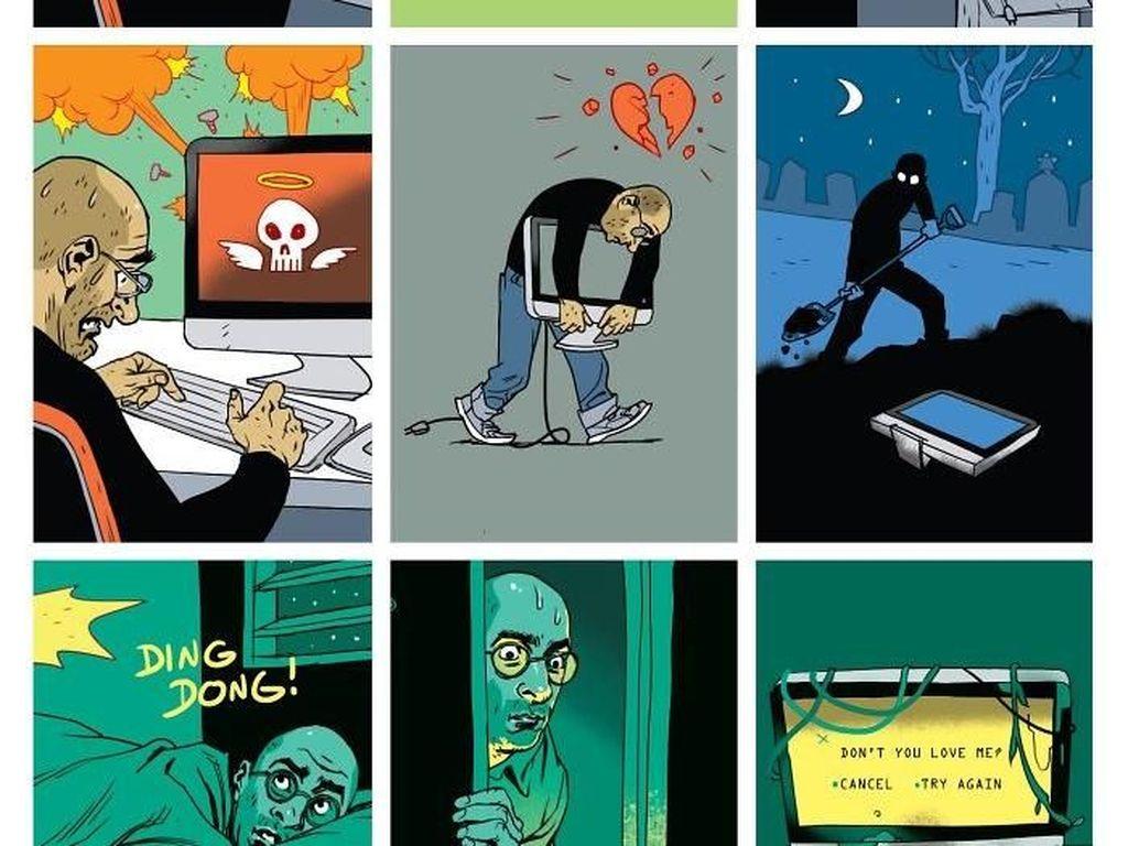 Ilustrasi Sindiran yang Gambarkan Hidup Masa Kini