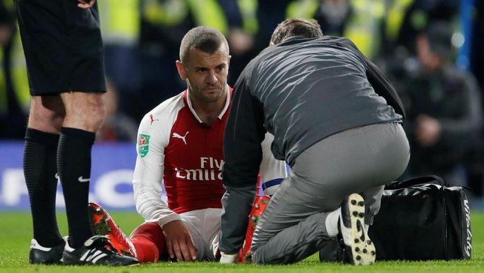 Comeback Jack Wilshere ke timnas Inggris kembali tertunda karena ia mengalami cedera lutut. Wilshere pun harus memaksimalkan waktu yang tersisa untuk membuktikan kepada Gareth Southgate bahwa dia layak dibawa ke Rusia. Foto: David Klein/Reuters