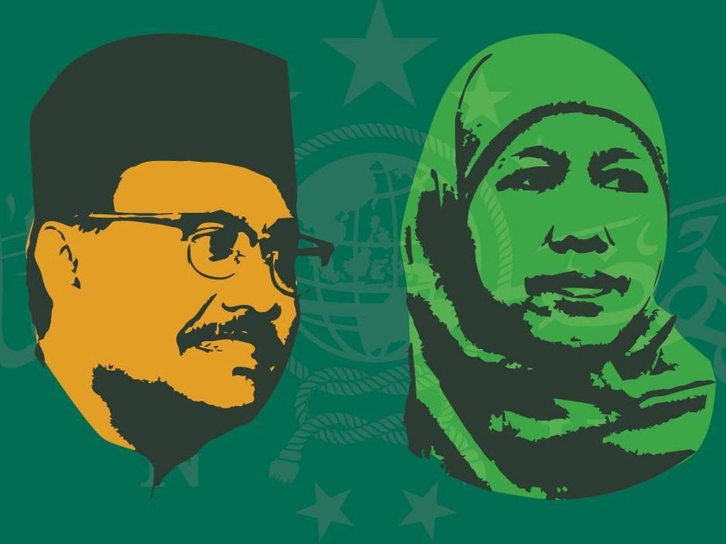 Survei: Pemilih Gus Ipul Pro-Jokowi, Pemilih Khofifah Pro-Prabowo
