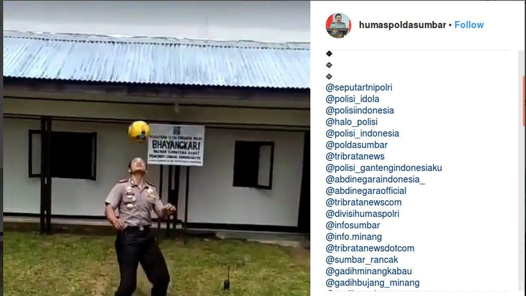 Video: Aksi Memikat Kapolres Pamerkan Kemampuan Juggling Bola