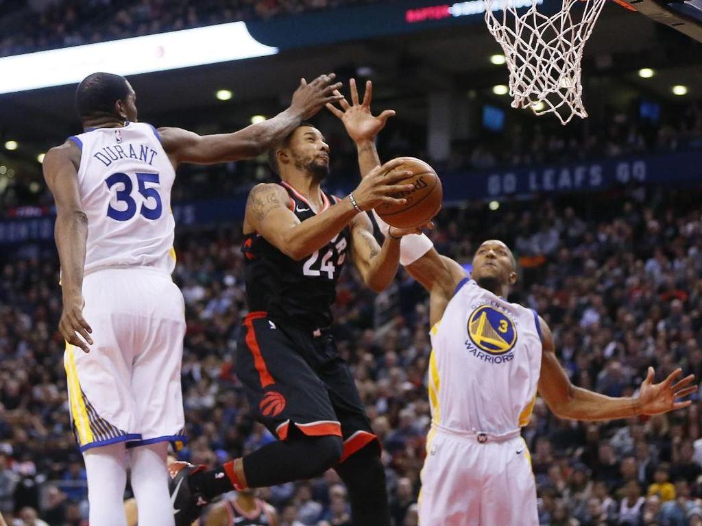 Warriors Redam Perlawanan Sengit Raptors