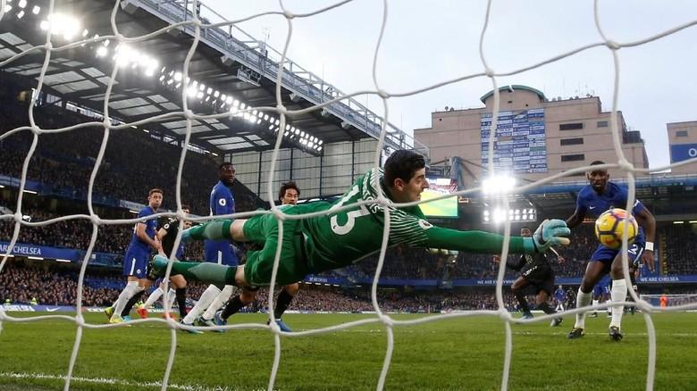 Courtois: Selama 70 Menit, Leicester Lebih Baik daripada Chelsea