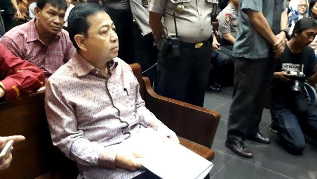 Nonton Timnas di Rutan, Novanto Tak Taruhan: Duit Nggak Ada