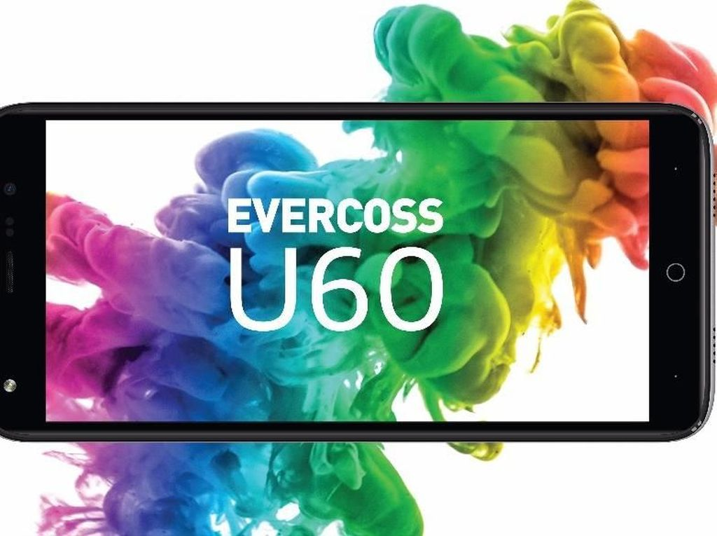Evercoss U60, Ponsel Full Screen Rp 1 Jutaan