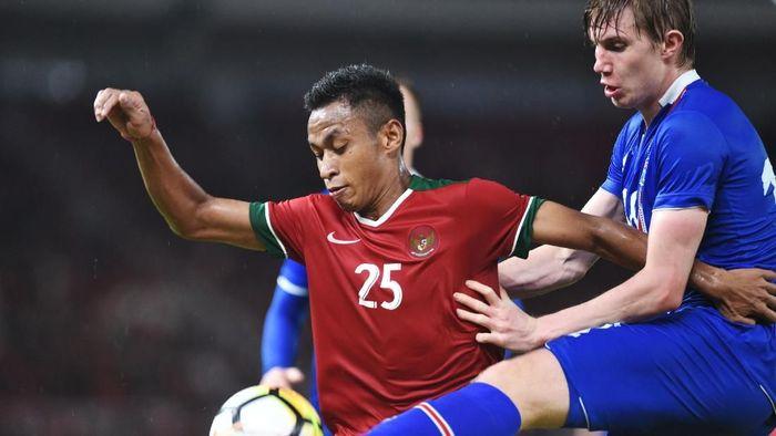 Osvaldo Haay dengan seragam timnas Indonesia. (Foto: Akbar Gumay/Antara)