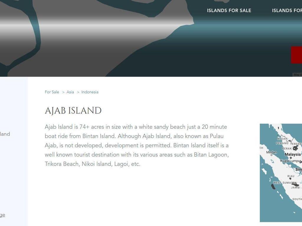 Geger Pulau Ajab di Kepri Dijual di Situs Online Rp 44 M