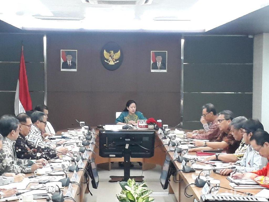 Darmin, Puan dan Menteri-Menteri Kumpul Bahas Bansos Beras