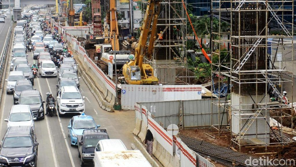 Begini Progres Terkini LRT Jabodebek di Kuningan