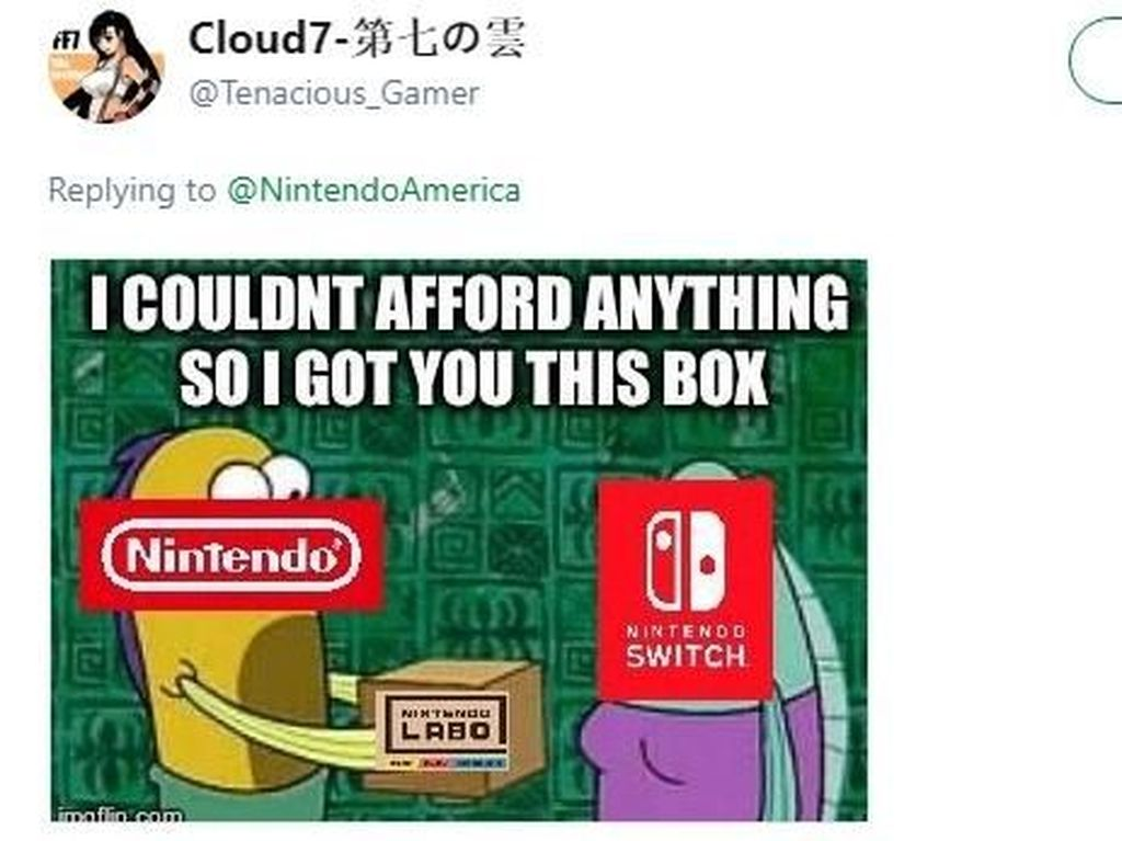 Nintendo Labo yang Cuma Modal Kardus Banjir Meme Sindiran