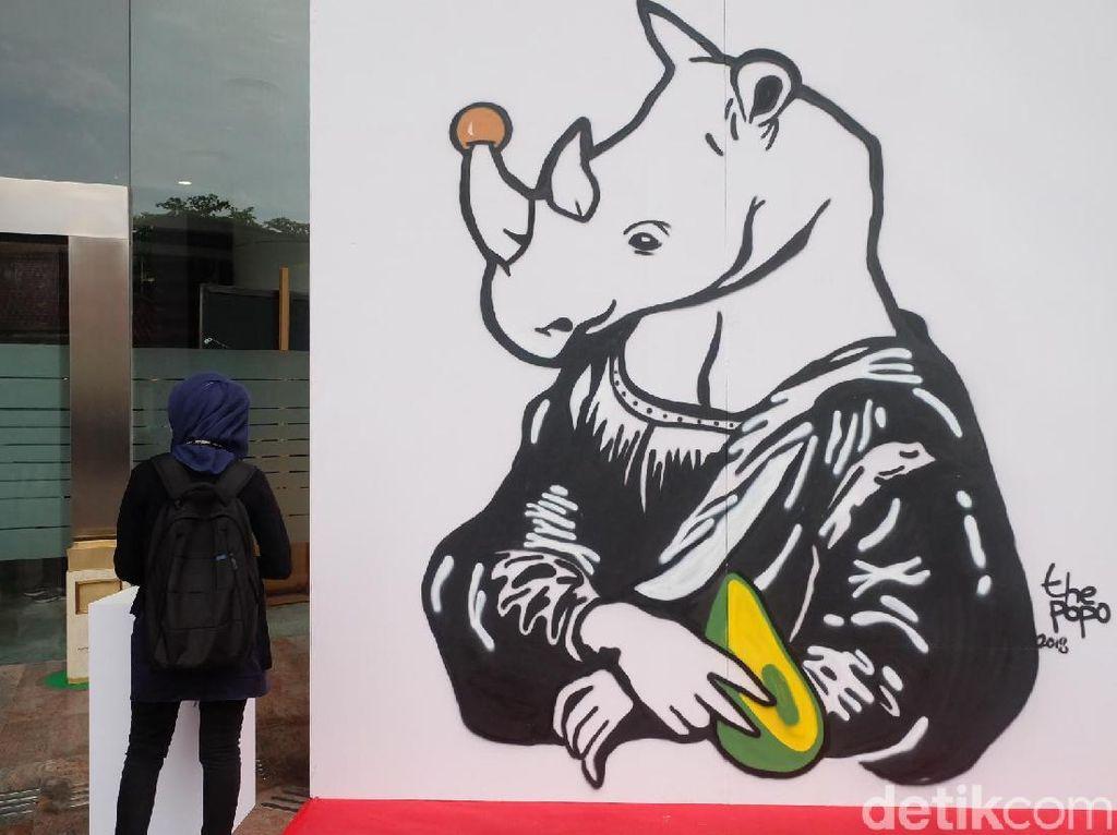 Mural The Popo hingga Ilustrasi Komikazer di Pameran Seni Badak Sumatera