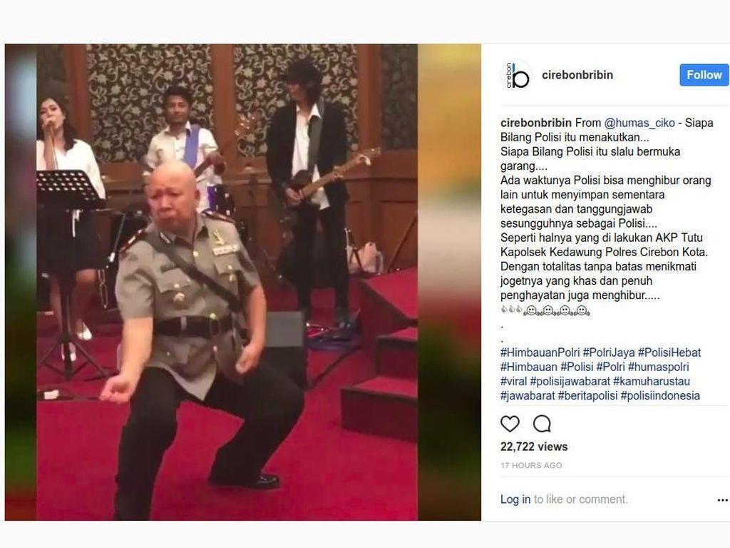 Viral Joget Jaran Goyang, AKP Tutu Terinspirasi Michael Jackson