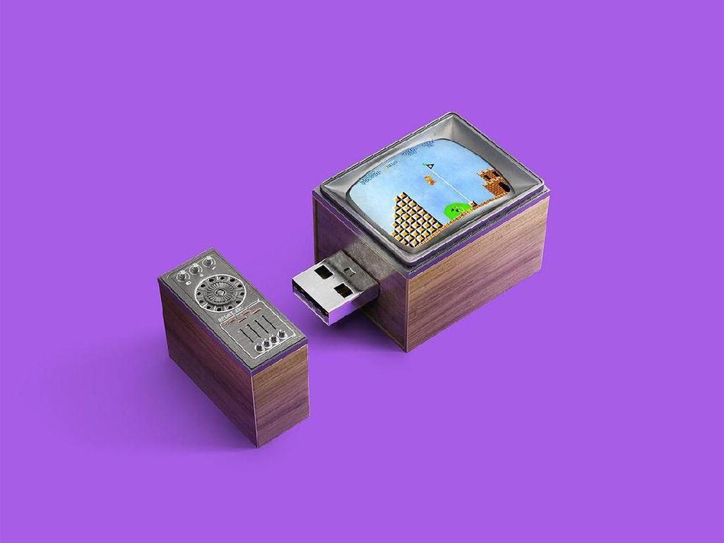 Desain Flashdisk untuk Gamer Jadul, dari Mario Bros Sampai Tetris