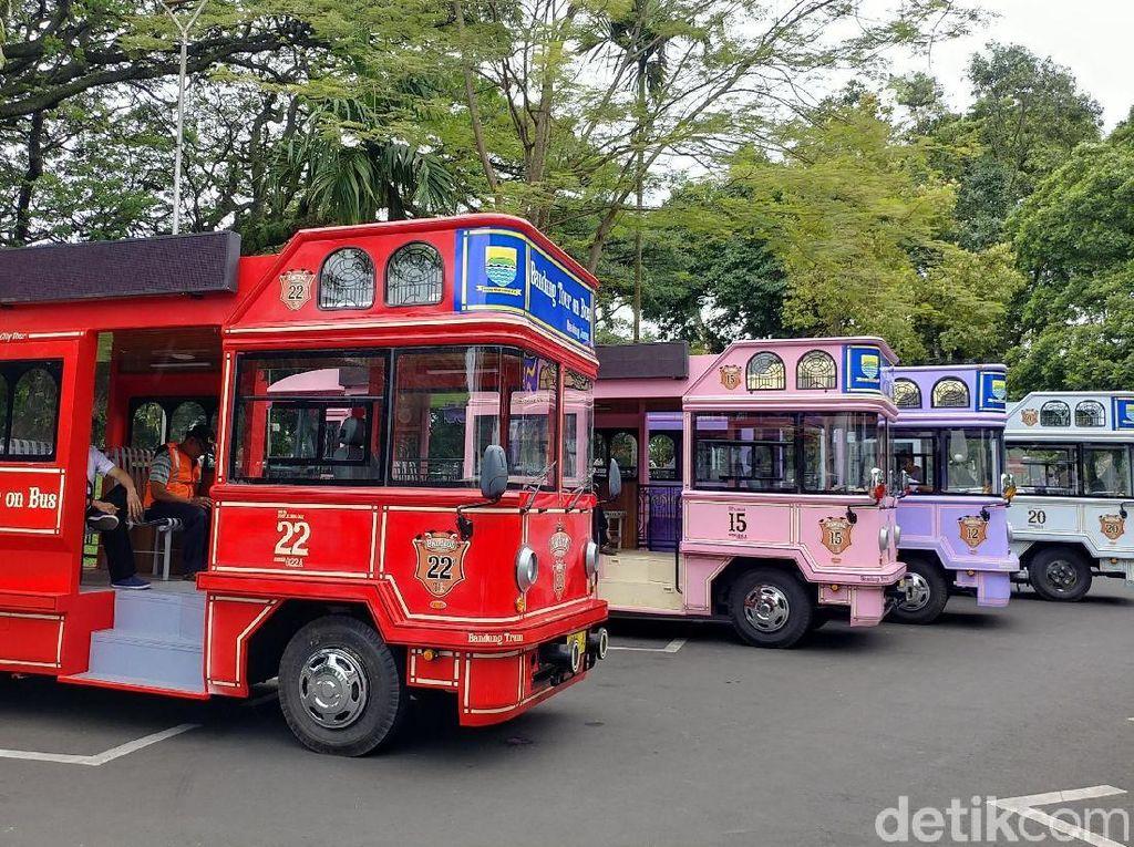 Mulai Beroperasi, Ini Lima Rute Wisata Bandros di Kota Bandung