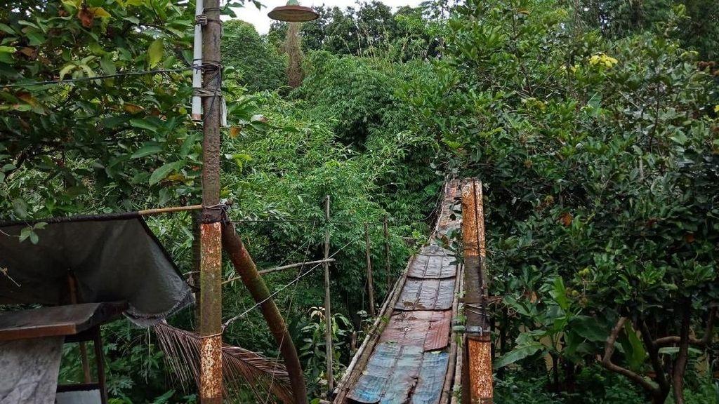 Masih Bikin Ngeri, Ini Penampakan Jembatan Gantung Depok-Jaksel