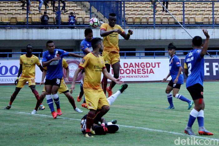 Kekalahan telak 0-3 diderita PSM Makassar dari Sriwijaya FC di Piala Presiden 2018.