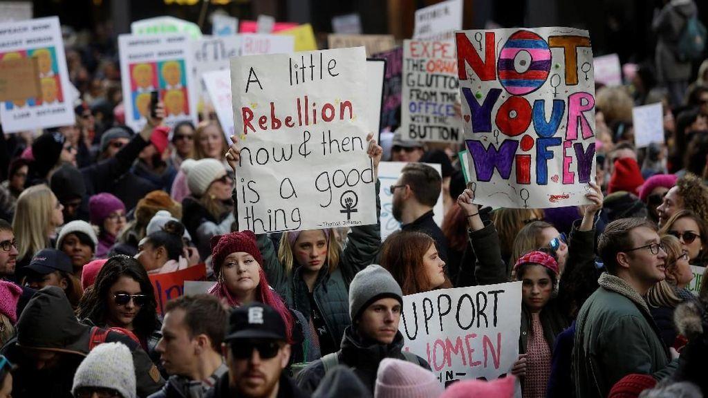 Turun ke Jalan, Perempuan Ramai-ramai Demo Trump di AS