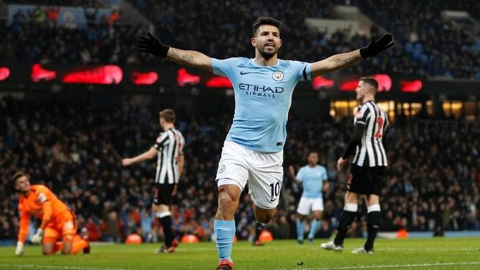 Sergio Aguero pantas jadi kapten Fantasy Premier League pekan ini (Darren Staples/Reuters)