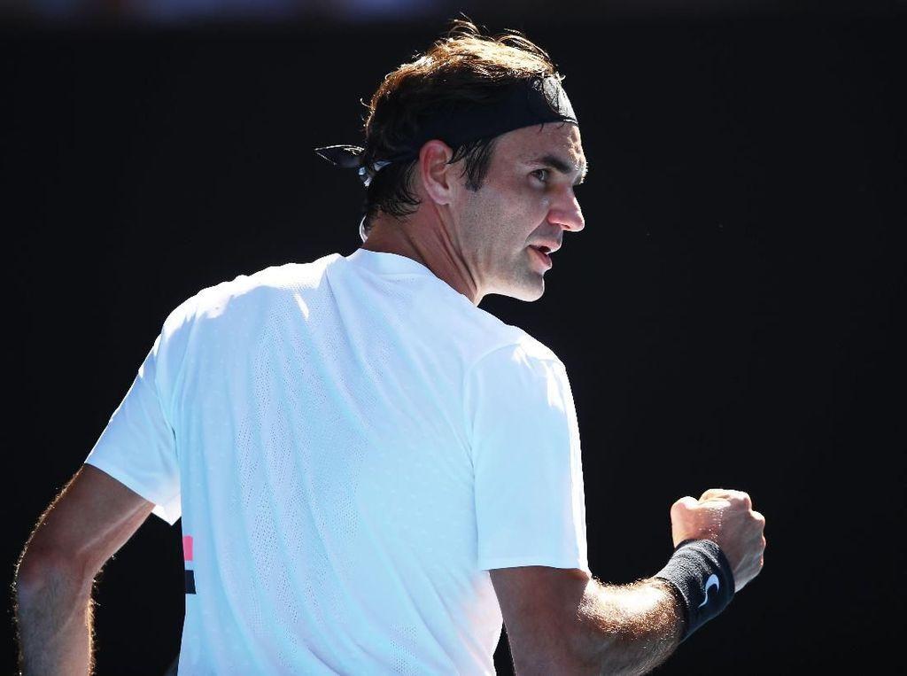 Menang Straight Set, Federer Pijak Perempatfinal