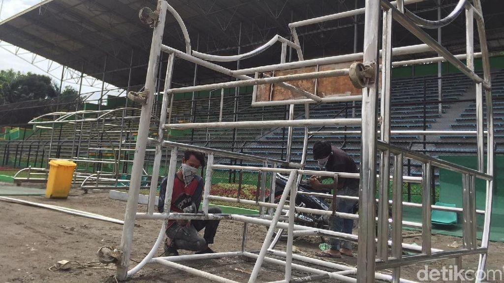 Begini Proses Renovasi Stadion Teladan Markas PSMS
