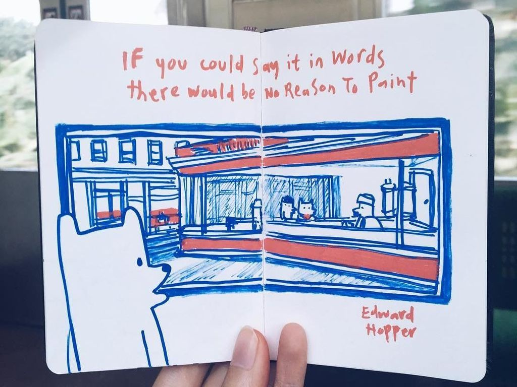 Ilustrasi Ciamik Ini Digambar di Dalam Gerbong Kereta